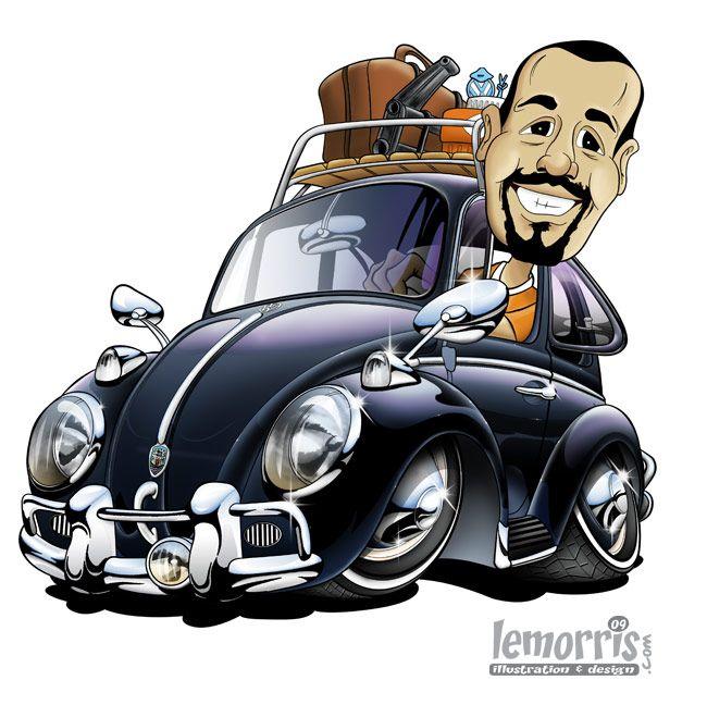 muscle cars cartoons | Tottarie - VW Beetle 1300 | Stuff to Buy ...