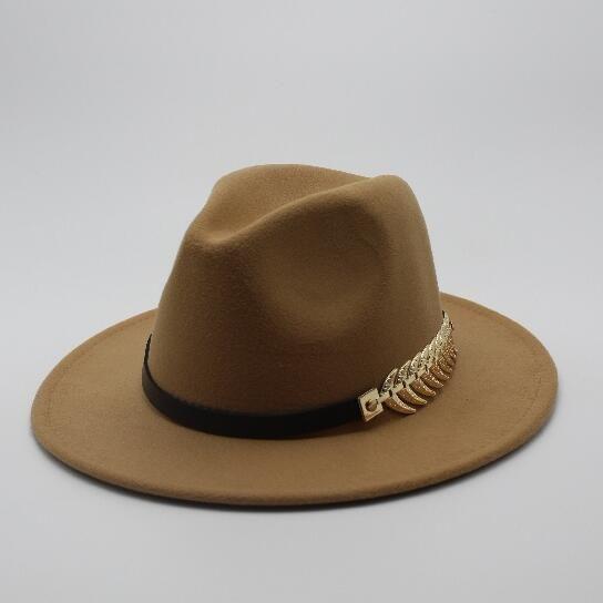 26d969f610ec4c Special Felt Hat Men Fedora Hats with Belt Women Vintage Trilby Caps Wool  Fedora Warm Jazz Hat Chapeau Femme feutre Panaman hat