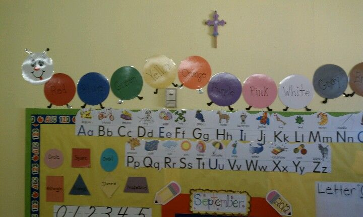 Preschool caterpillar color wall chart also my ideas rh pinterest
