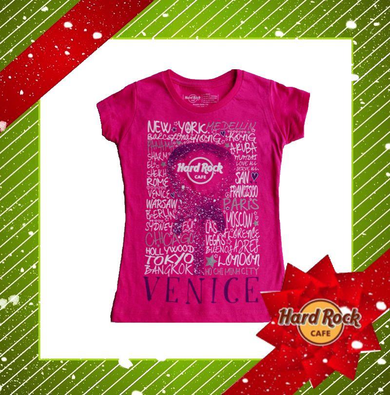 #Natale 2014: HRC #Girls #Destination #Tee #Pink #HardRock4Xmas #gift #kid