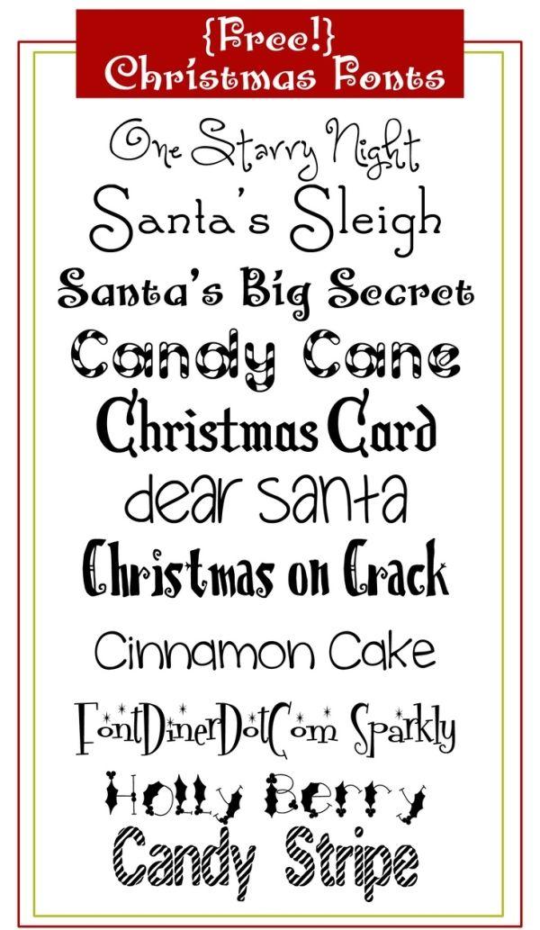 FREE Christmas FONTS by regina Fonts Pinterest Christmas fonts
