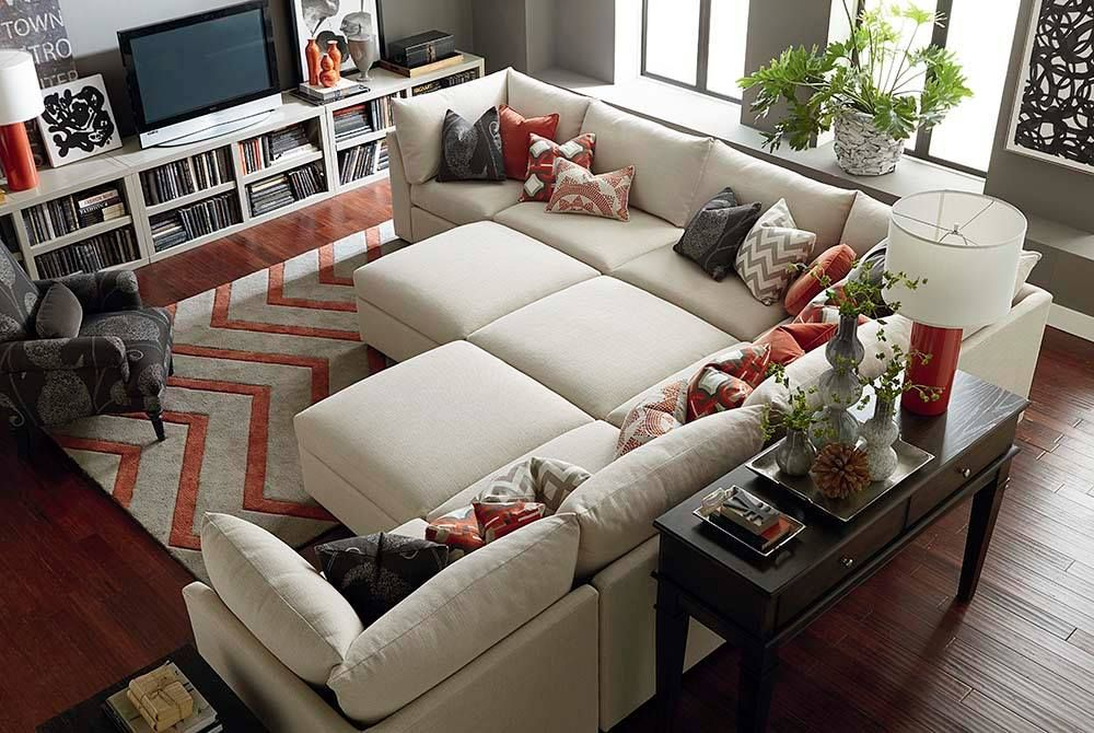 family room with a cuddle couch | House & Home in 2019 | Pit ...