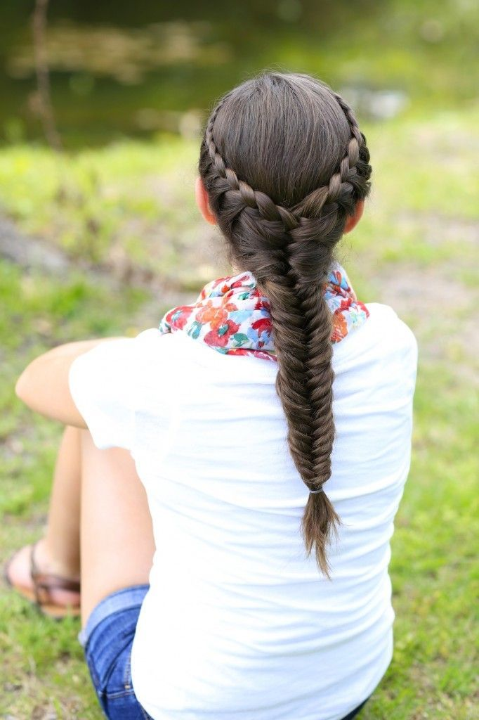 How to Create a Laced Fishtail Braid | Pinterest | Girl hairstyles ...