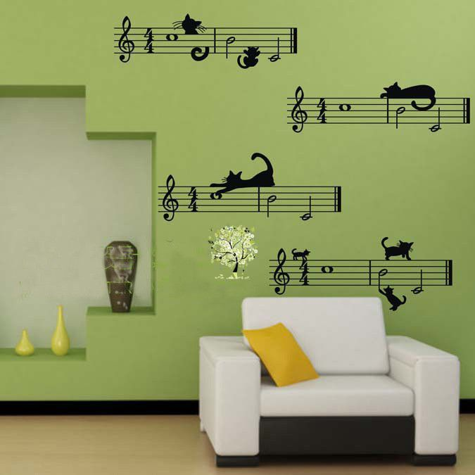 Music Wall Decal Wall Decor Music Bedroom Wall Sticker