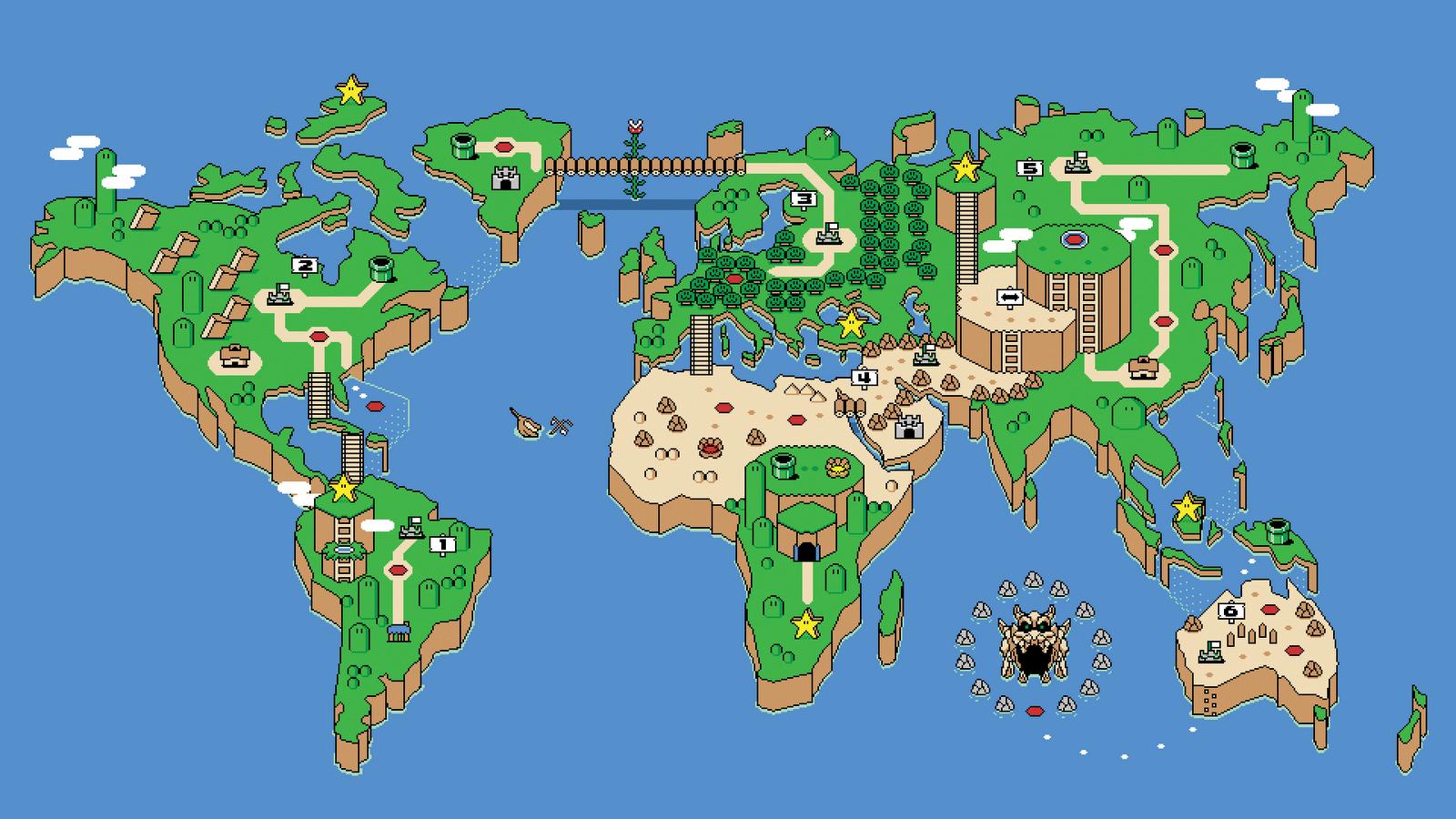Seiken Densetsu 3 Wallpaper | Super Mario Map | Surf waves