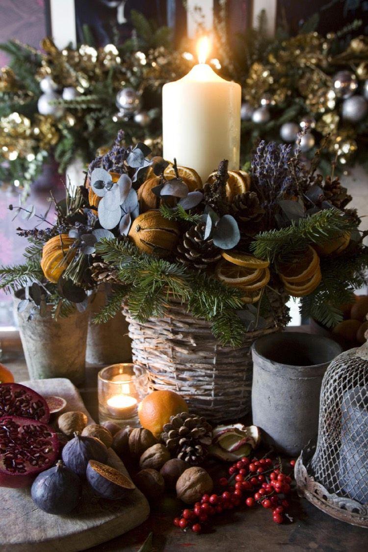 centre de table no l faire soi m me la cerise sur le g teau de la table festive d coration. Black Bedroom Furniture Sets. Home Design Ideas