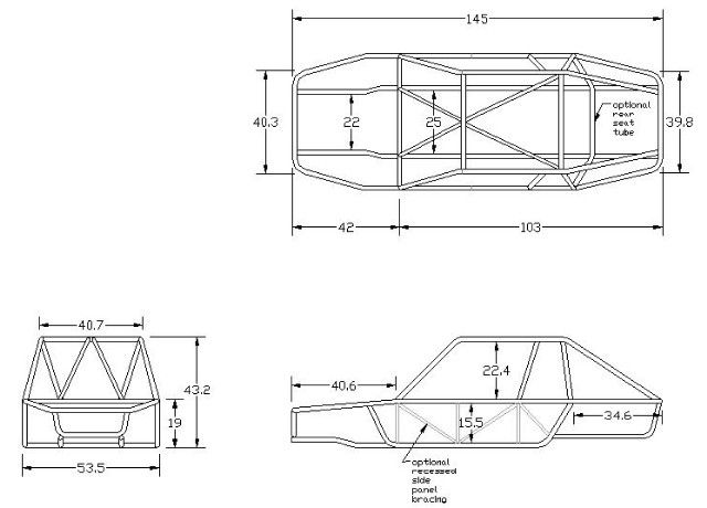 vw dune buggy frame diagrams