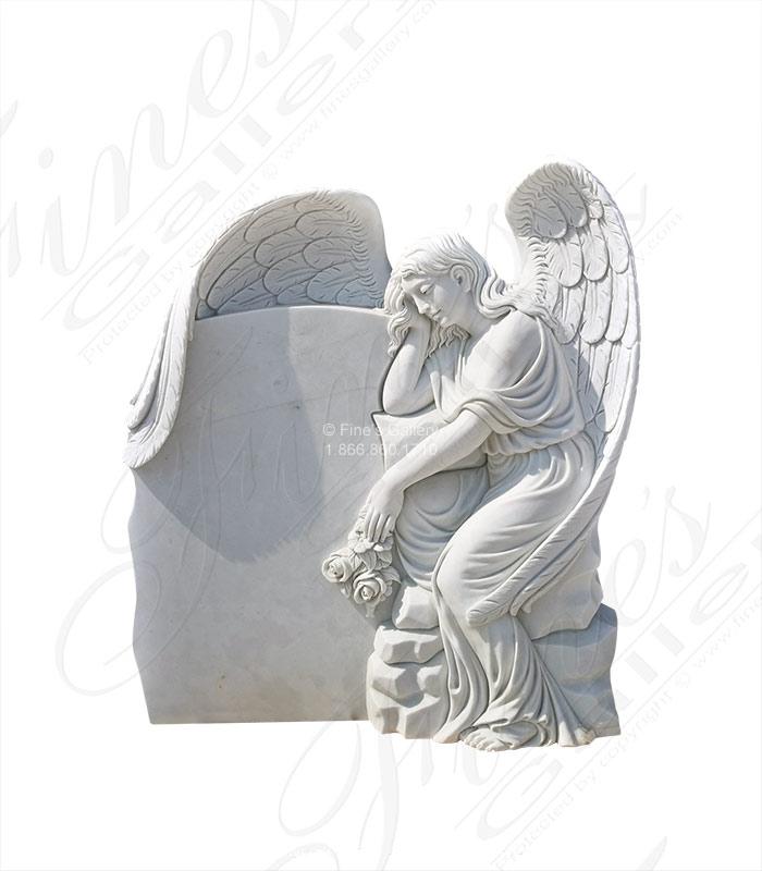 Marble Memorials Weeping Angel Headstone Mem 486 Black Background Painting Weeping Angel Headstones