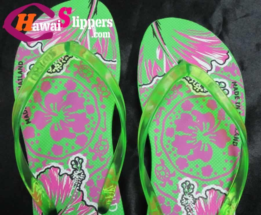 d9e918204d2b54 Ladies Hawai Printed Slippers Thai Export OEM