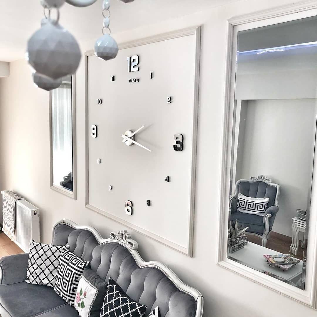 Große Wand Uhr für modernes Wohnzimmer  Wanduhren wohnzimmer