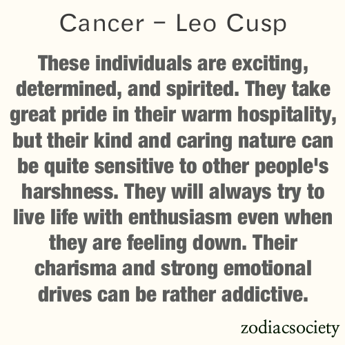 Cancer leo cusp dating leo men characteristics