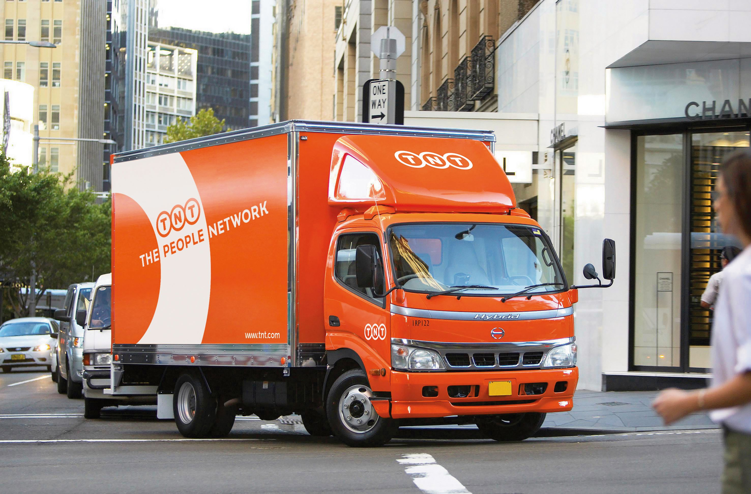 TNT hybrid parcel and package delivery van Parcel