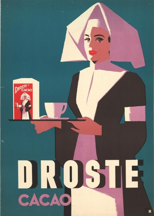 Droste Cacao (Netherlands, 1950s)