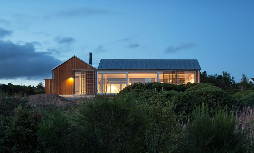 four mini units constitute house at mols hills by lenschow & pihlmann