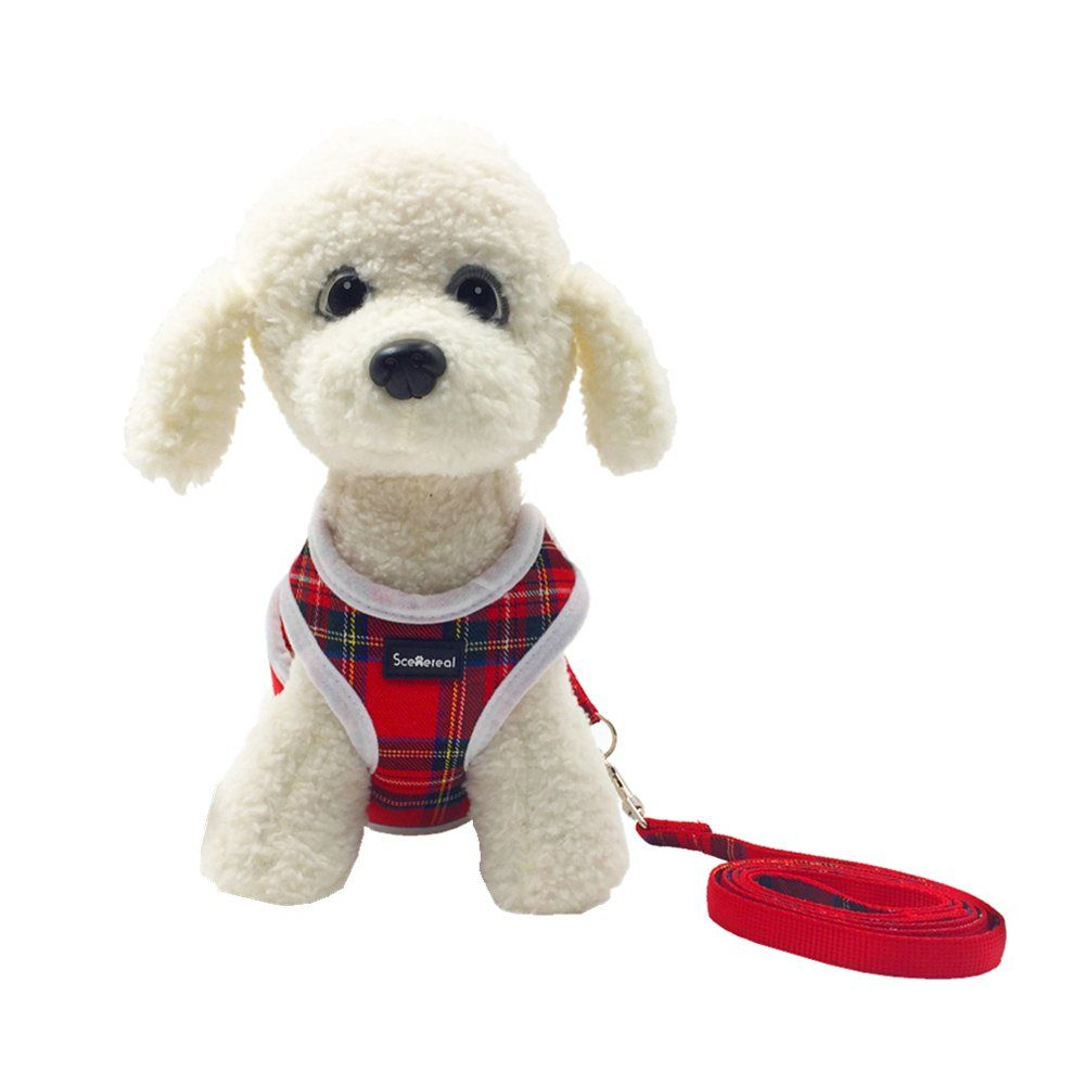 Scenereal Small Dog Harness And Leash Best Adjustable Cute Soft