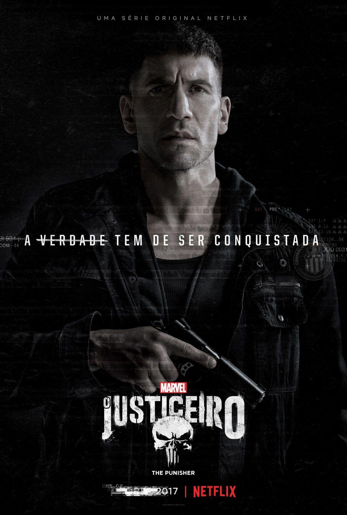 Poster oficial de Frank Castle de Marvel O Justiceiro apresentado pela  Netflix b0120d1c524c2