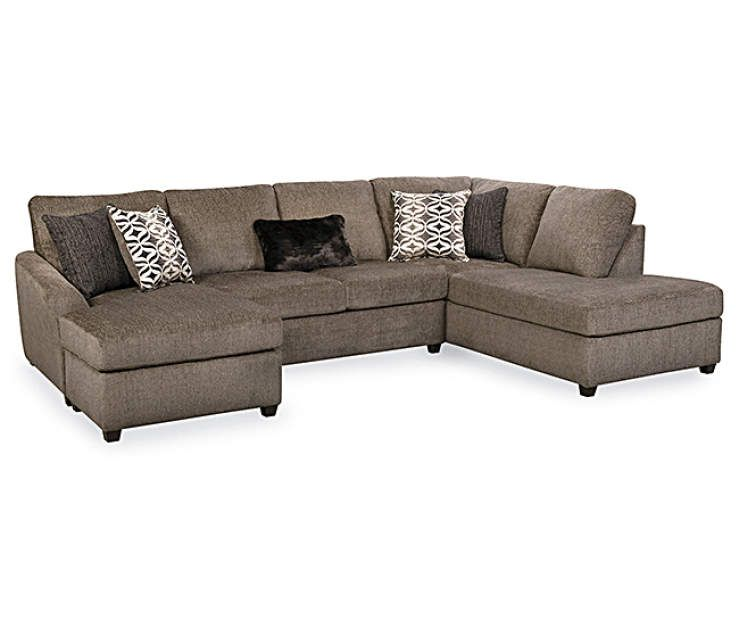 Best Lane Home Solutions Passage Mocha Living Room Sectional 640 x 480
