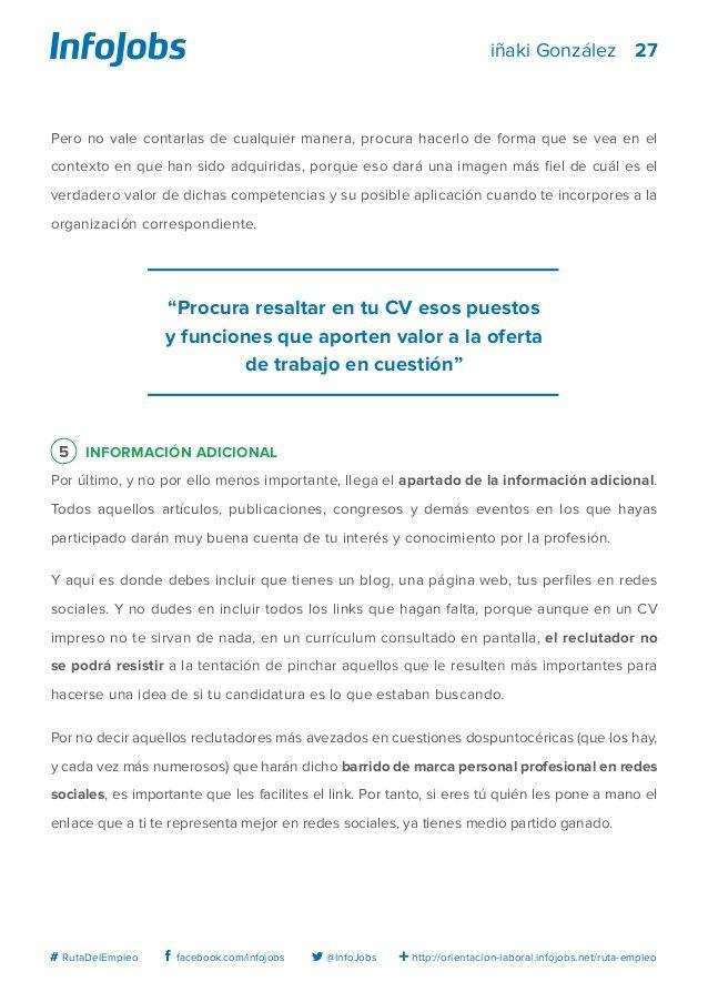 27 http://orientacion-laboral.infojobs.net/ruta-empleo ...
