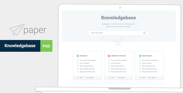 Paper Product Knowledgebase Template Psd Templates Pinterest