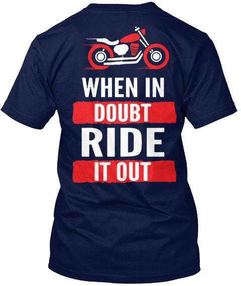 Motorcycle T Shirts | Tees | Apparel  Navy T-Shirt Back