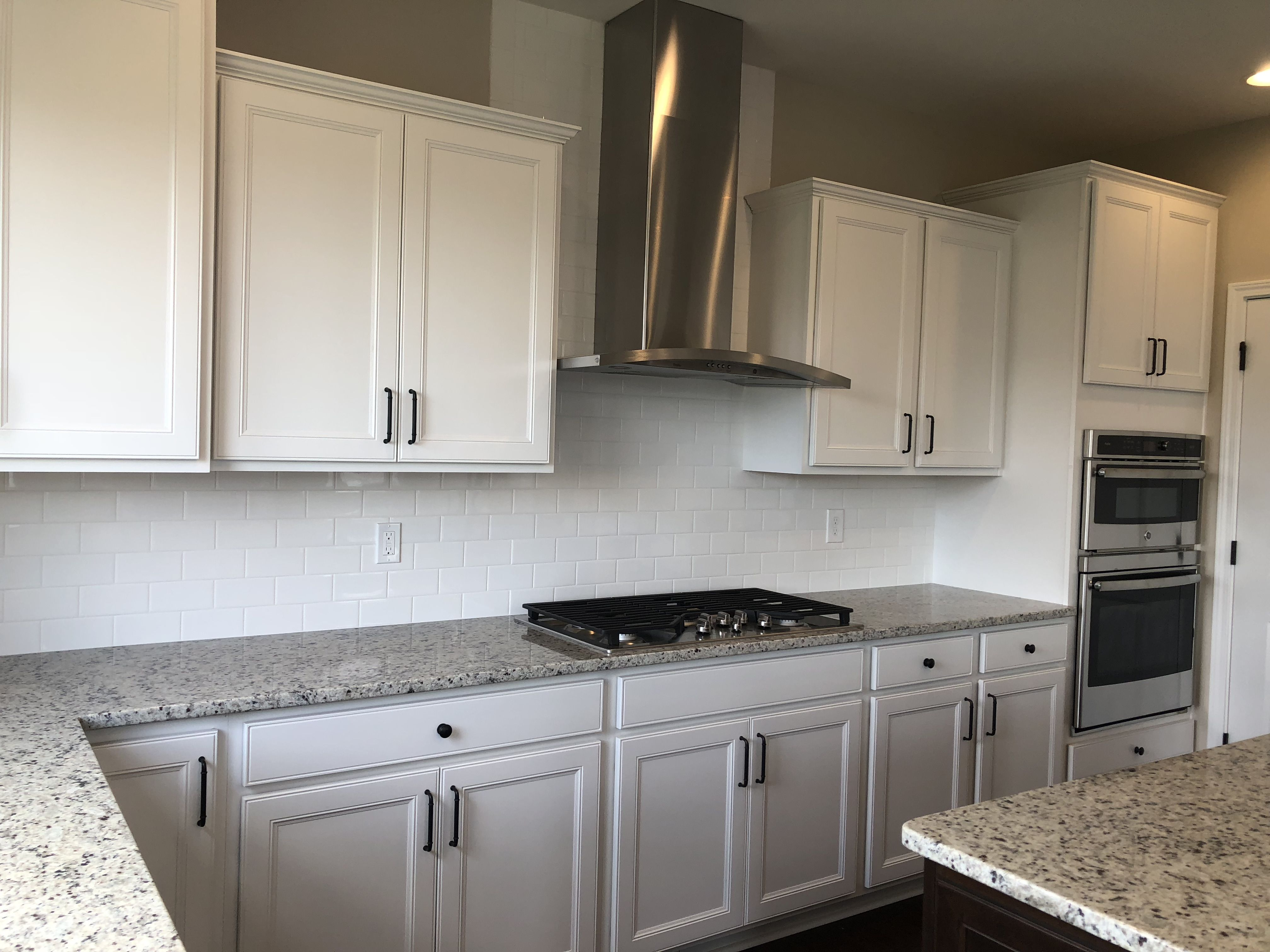 Gourmet Kitchen Landen White Painted Perimeter Cabinets French Oak Flooring New Homes Kitchen