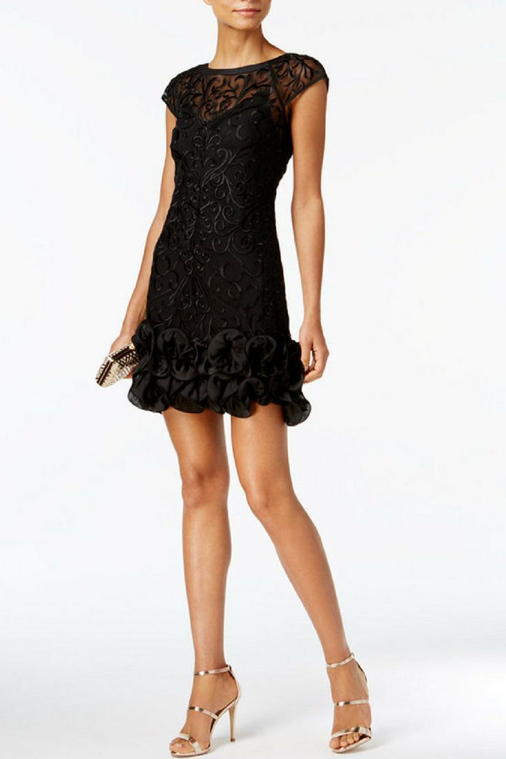 Adorable Guess Little black lacy dress! Great for a holiday party ...