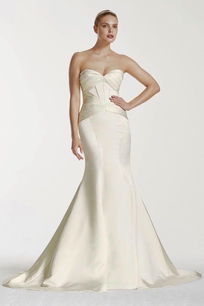 Zac Posen Art Deco Wedding Gown Geometic 1920s Inspired Strapless