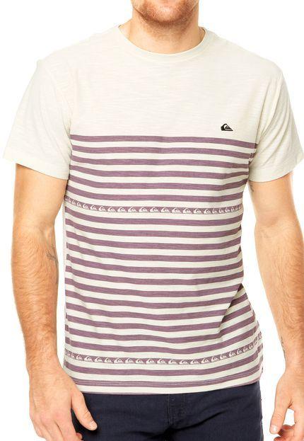 b756187710 Camiseta Quiksilver Waterwood Bege - Compre Agora