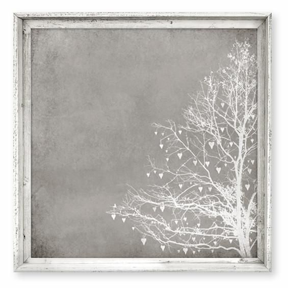 Tree of Love Taupe Art with Rustic Frame | Gumball, Taupe and Rustic ...