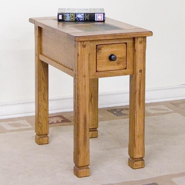 Best Sedona Chair Side Table With Slate By Sunny Designs 400 x 300