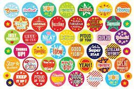 Pack 280 Reward Stickers Sticky Label Motivation Teacher Student