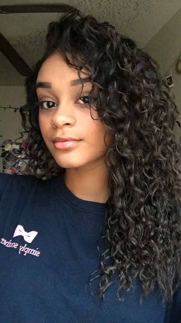 Natural curly hair   long   black hair   dezziebomb ...