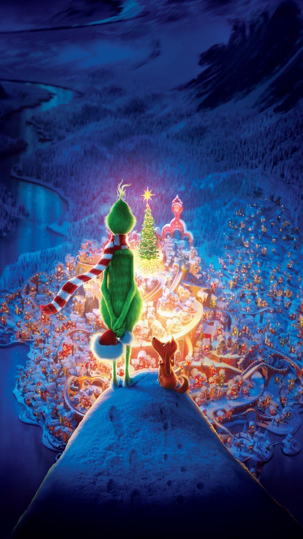 The Grinch (2018) Phone Wallpaper Moviemania Christmas