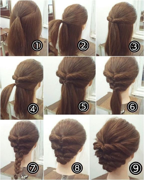 21 Super Easy Updos For Beginners Long Hair Styles Short Hair Styles Easy Medium Hair Styles