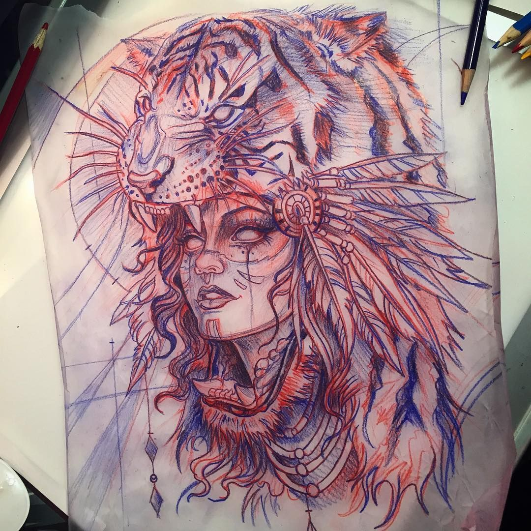 10 Inconceivable Drawing Animals In The Zoo Ideas Headdress Tattoo Tattoos Tattoo Drawings