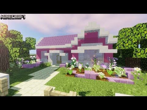 Minecraft Pretty Pink Girly Suburban House Tutorial