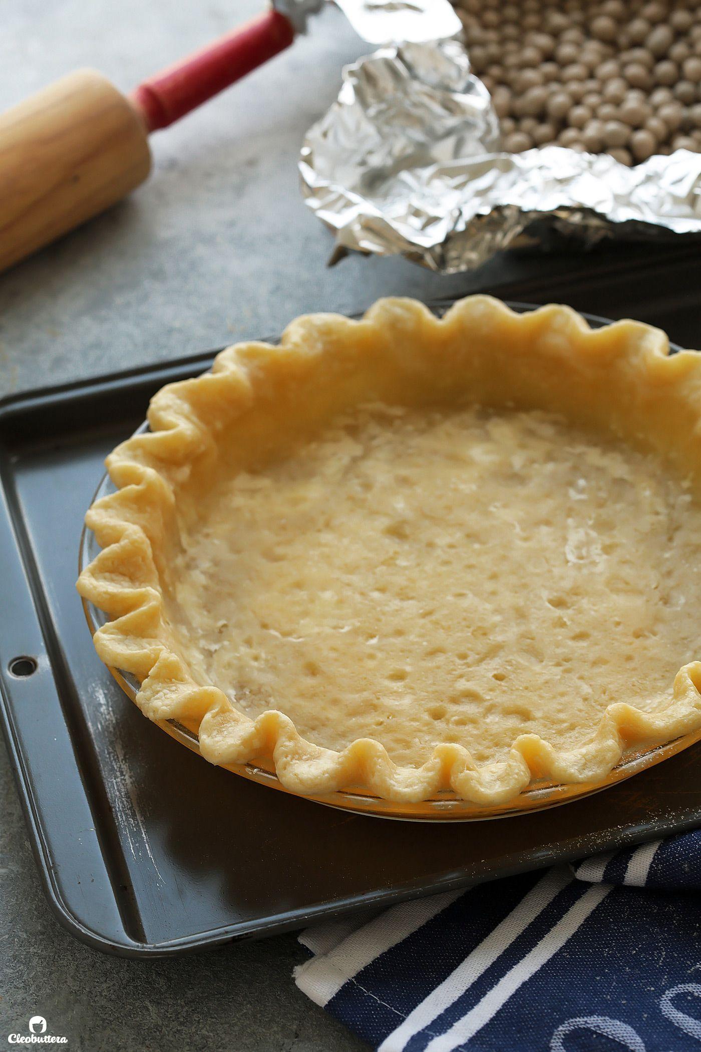 The Flakiest All Butter Pie Crust Recipe In 2020 Pie Crust