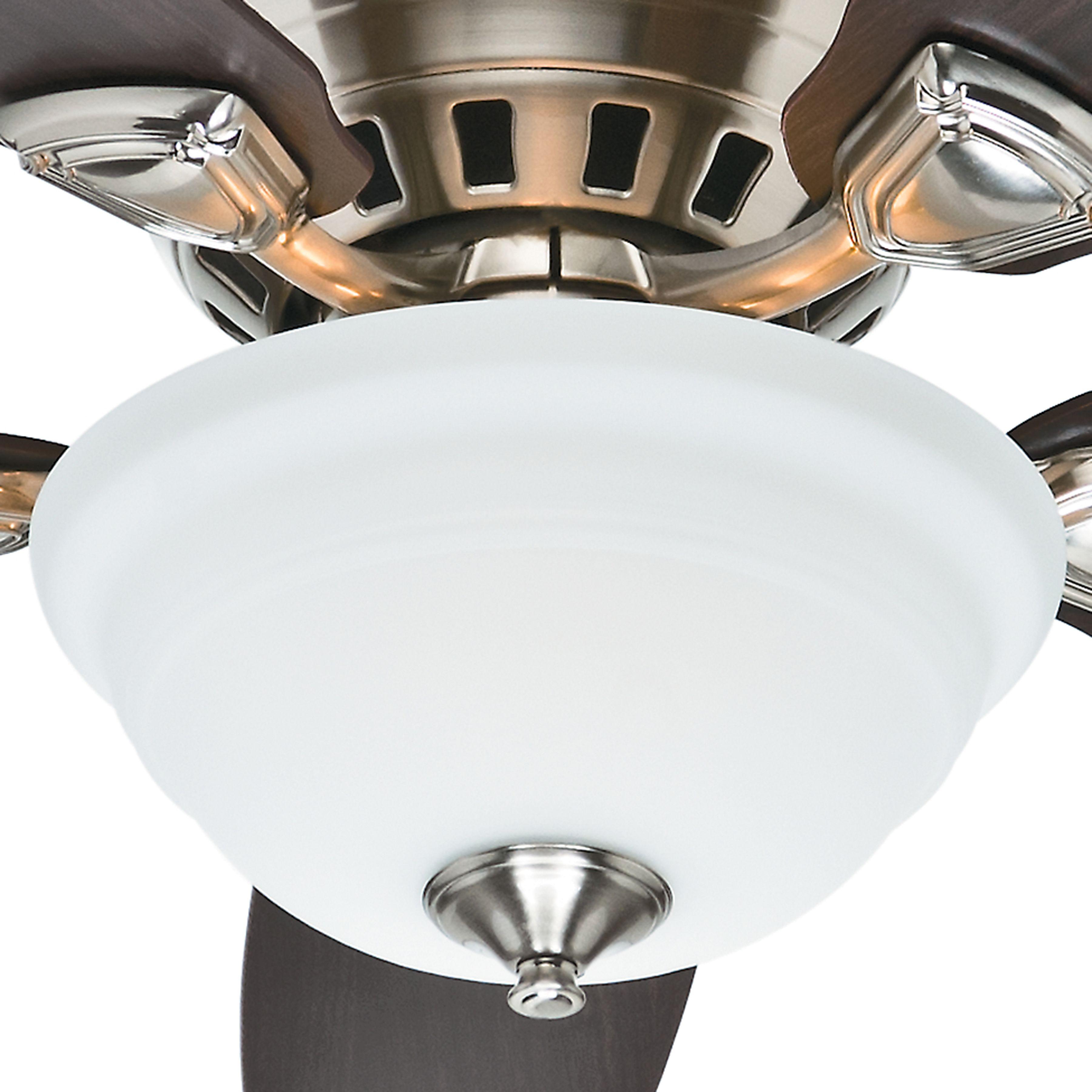 Hunter 46 Inch low profile brushed nickel finish Ceiling Fan