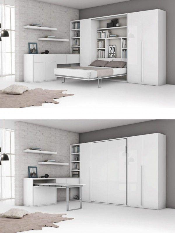 am nagement d 39 un lit escamotable deux places dans un. Black Bedroom Furniture Sets. Home Design Ideas