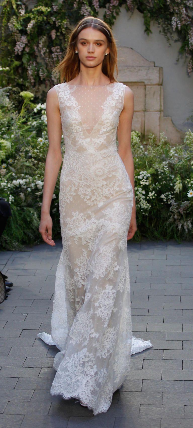 Monique lhuillier stuns with lingerie inspired wedding for Lingerie for wedding dress
