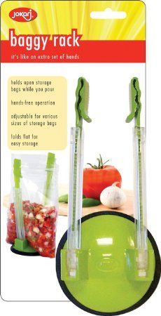Amazon.com: Jokari Hands-Free Baggy Rack Storage Bag Holder: Ziploc Bag Holder For Canning: Kitchen & Dining