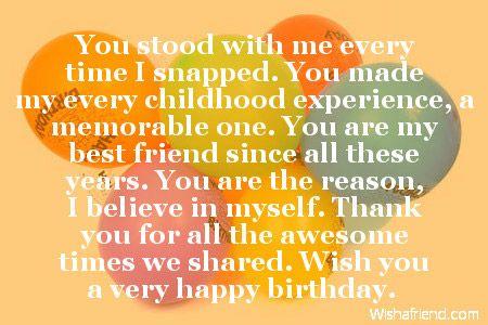birthday letter childhood best friend childhood took care