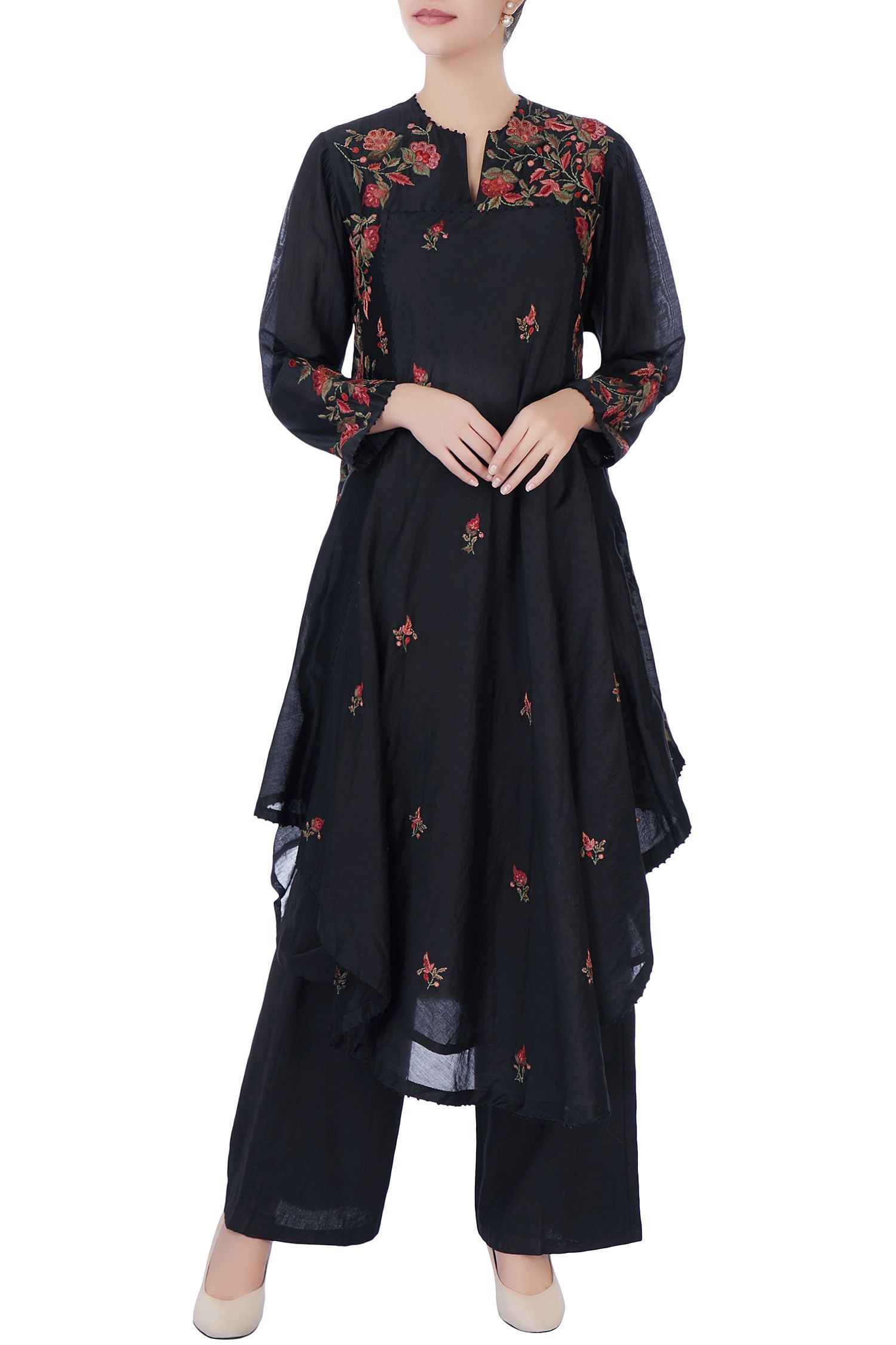 0fddffa75b56 Black asymmetric kurta   Things to wear   Pinterest
