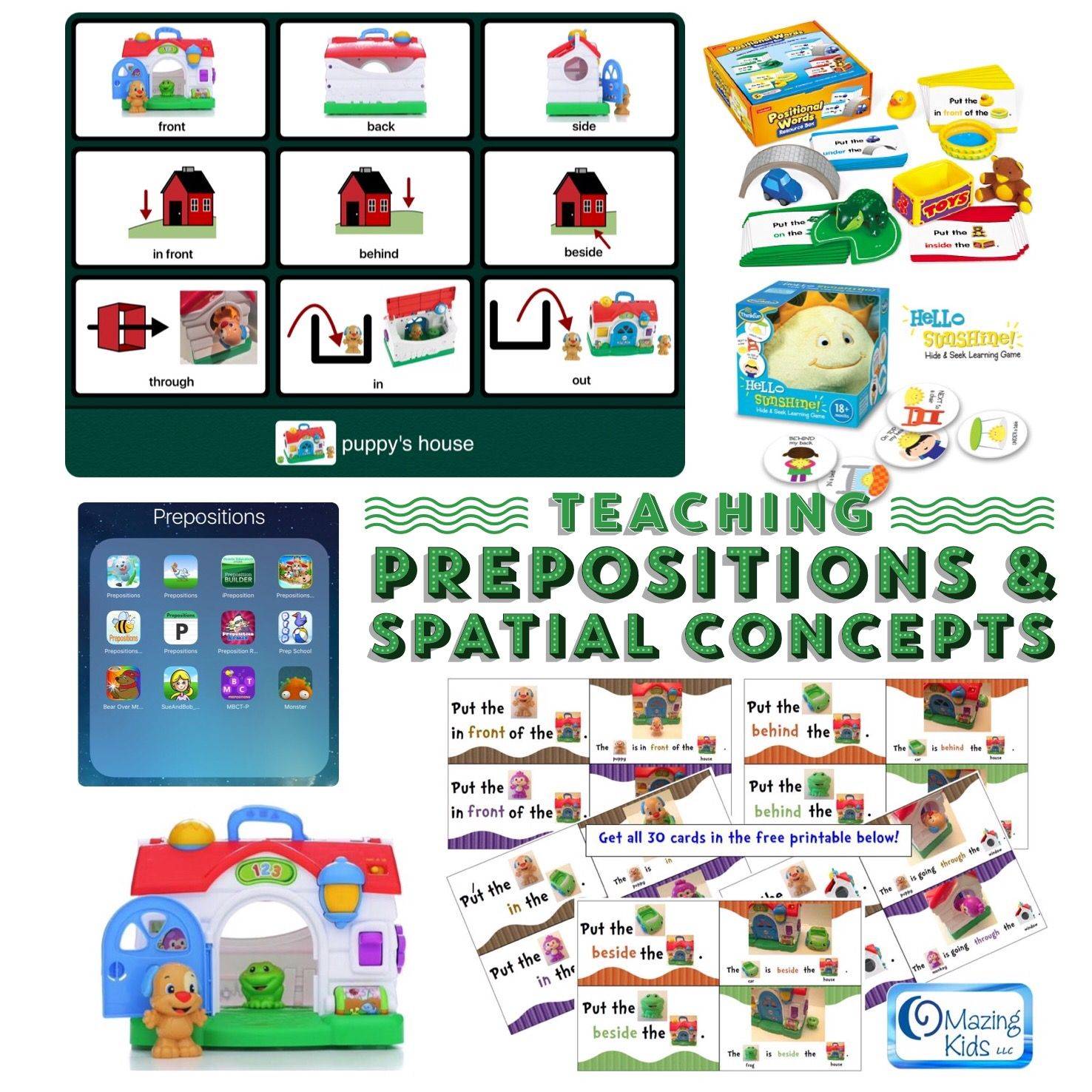 Teaching Prepositions Amp Spatial Concepts Free Printable