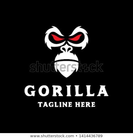 Simple Gorilla Head Face With Red Eye Logo Icon Vector Template Pet Logo Design Eye Logo Gorilla