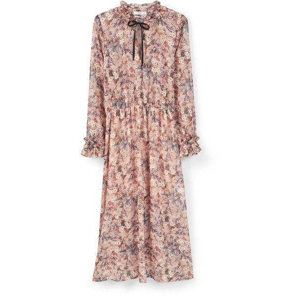 Mango flower print maxi dress