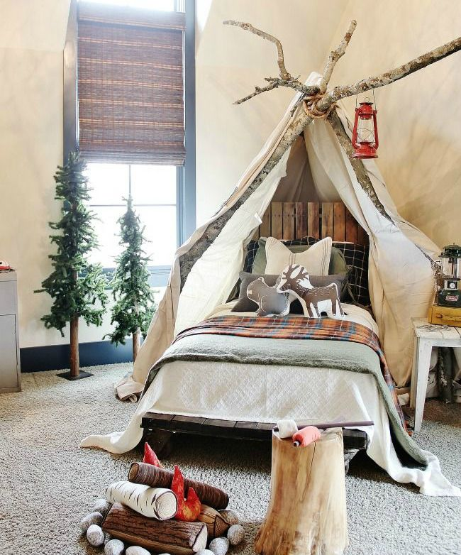 Whimsical Kids Room: 12 Whimsical Woodland Inspired Bedrooms For Kids