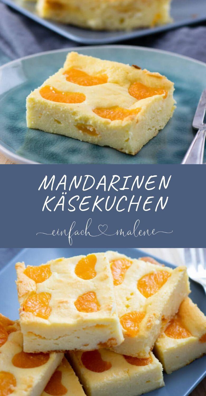 Quark Käsekuchen mit Mandarinen - ein echter Klassiker - ohne Boden
