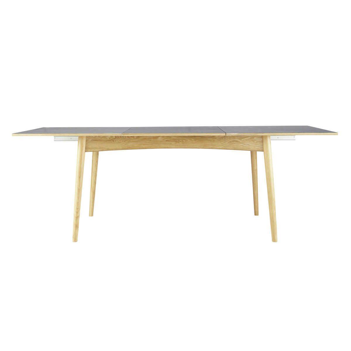 Table Extensible Maison Du Monde.Table A Manger Extensible 6 A 10 Personnes Gris Anthracite