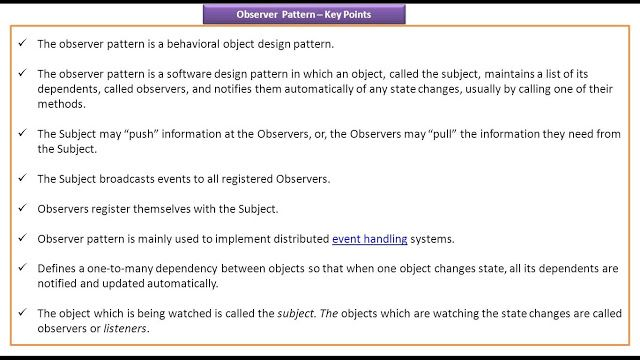 Observer Design Pattern Key Points With Images Pattern